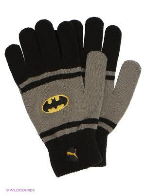 Перчатки PUMA Batman Gloves. Цвет: черный