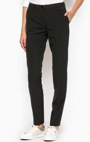Зауженные брюки из полиэстера и хлопка Gant. Цвет: серый