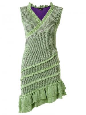 V neck knit dress Gig. Цвет: зелёный