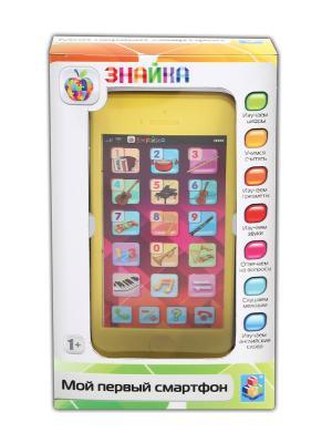 Интерактивный двуязычный обучающий смартфон музыкальные инструменты Знайка 1Toy. Цвет: прозрачный