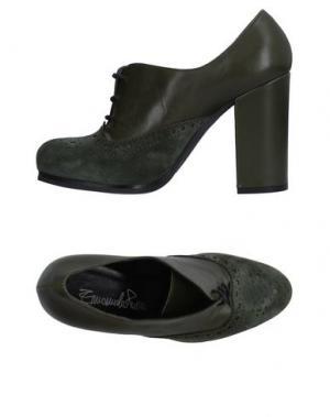 Обувь на шнурках EMANUELA PASSERI. Цвет: темно-зеленый
