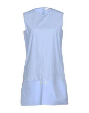 Короткое платье COURRÈGES. Цвет: небесно-голубой