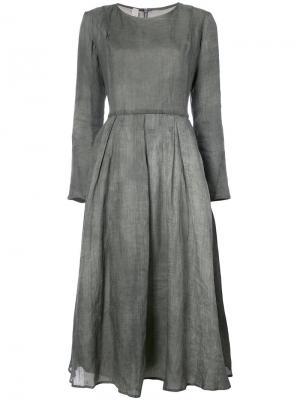 Расклешенное платье миди A Diciannoveventitre. Цвет: серый
