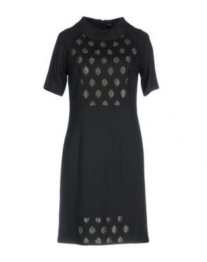Короткое платье CHIARA D'ESTE. Цвет: стальной серый