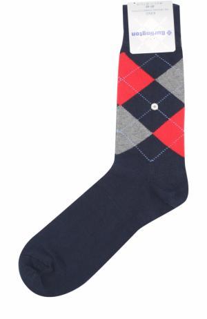 Хлопковые носки King Burlington. Цвет: синий