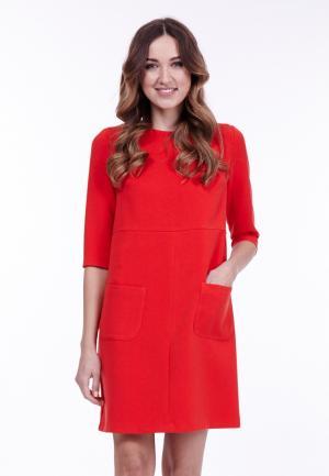 Платье Vladi Collection. Цвет: красный