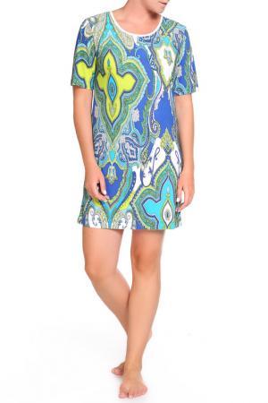 Платье домашнее LAVELLE. Цвет: синий