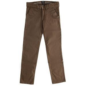 Штаны узкие детские DC Wrk Slm Chno By Taupe Shoes. Цвет: зеленый