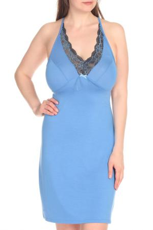 Сорочка ALFA. Цвет: голубой