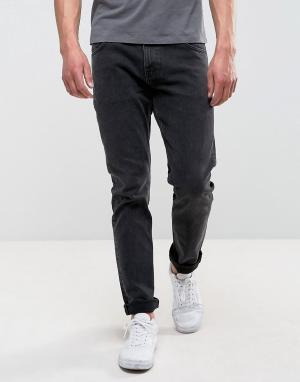 Weekday Черные выбеленные эластичные джинсы узкого кроя Wednesday. Цвет: черный