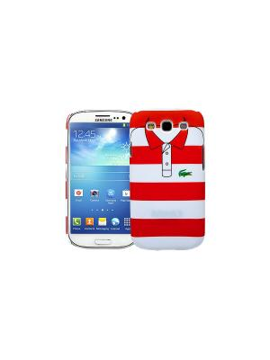 Чехол для Samsung Galaxy S3 Red and white stripes, серия Sports shirt Kawaii Factory. Цвет: белый, красный