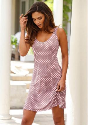 Ночная сорочка Marie Claire. Цвет: розовый в горох