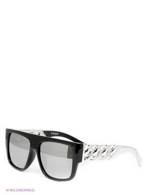 Солнцезащитные очки TRUESPIN Las Cadenas True Spin. Цвет: черный, серебристый