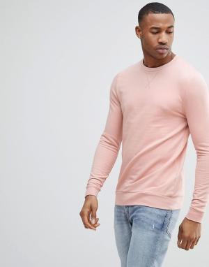 ASOS Розовый обтягивающий свитшот. Цвет: розовый