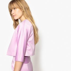 Жакет вечерний в стиле болеро без пуговиц MADEMOISELLE R. Цвет: бледно-розовый,коралловый