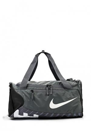 Сумка спортивная Nike. Цвет: серый