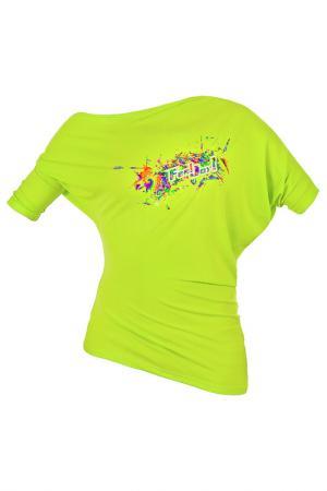 Блуза Feel JOY!. Цвет: зеленый