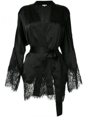 Пиджак с кружевной отделкой Gold Hawk. Цвет: чёрный