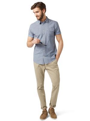 Рубашка TOM TAILOR. Цвет: серый, синий
