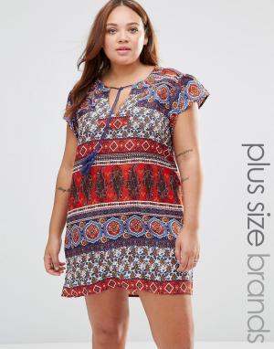 Diya Цельнокройное платье с принтом пейсли Plus. Цвет: мульти