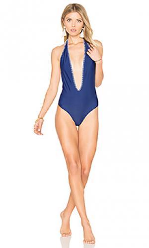 Слитный купальник reina Mia Marcelle. Цвет: синий