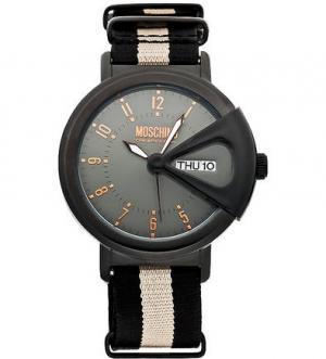 Часы со съемным текстильным браслетом Moschino