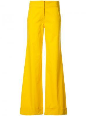 Удлиненные расклешенные брюки Derek Lam. Цвет: жёлтый и оранжевый
