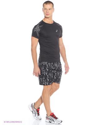Шорты Woven Short 9-inch ASICS. Цвет: черный, серый