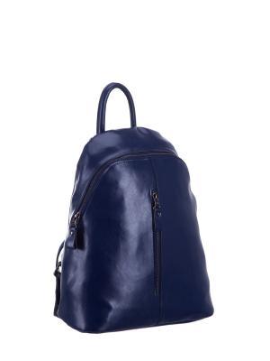 Рюкзак S16655A натуральная кожа Sara. Цвет: синий