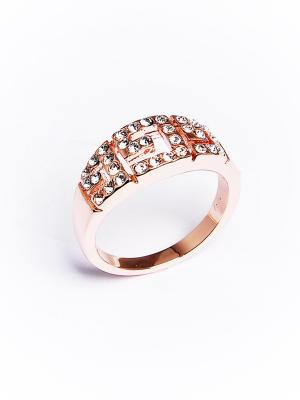 Кольцо Riviera с кристаллами Swarovski в золоте Mademoiselle Jolie Paris. Цвет: светло-бежевый, темно-бежевый, бежевый, молочный, бледно-розовый, светло-желтый, прозрачный, персиковый, кремовый, желтый, белый