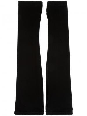 Длинные бархатные перчатки I.D.Sarrieri. Цвет: чёрный