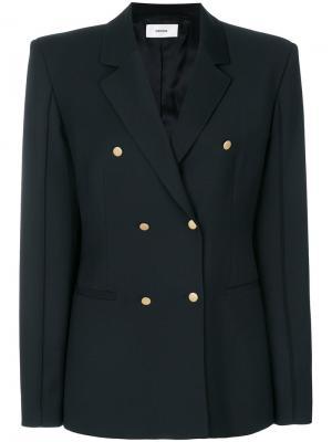 Двубортный пиджак Mauro Grifoni. Цвет: чёрный
