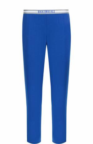 Домашние брюки прямого кроя Dirk Bikkembergs. Цвет: синий