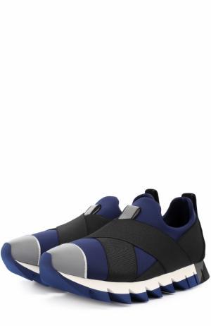 Кроссовки Ibiza на рельефной подошве Dolce & Gabbana. Цвет: темно-синий