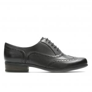 Ботинки-дерби с перфорированным мыском Hamble Oak CLARKS. Цвет: черный