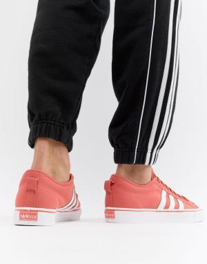 Adidas Originals Оранжевые кроссовки Nizza CQ2331. Цвет: оранжевый