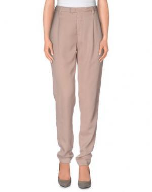 Повседневные брюки E-GÓ. Цвет: телесный
