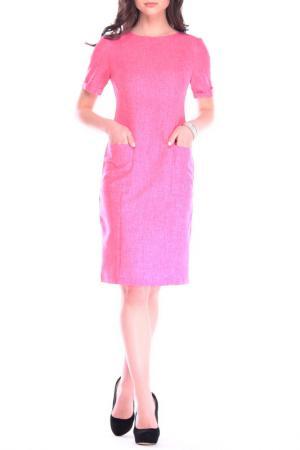 Лаконичное офисное платье Laura Bettini. Цвет: розовый