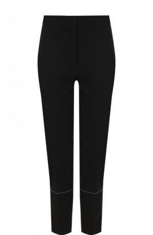 Укороченные брюки из смеси вискозы и шерсти с лампасами Proenza Schouler. Цвет: черный