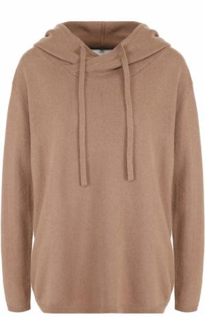 Кашемировый свитер с капюшоном Allude. Цвет: коричневый