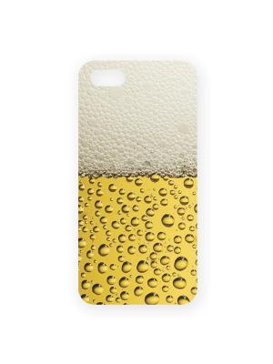 Чехол для IPhone 5 Пиво Mitya Veselkov. Цвет: желтый