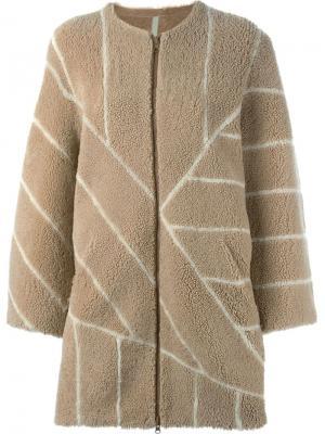 Двухстороннее пальто Ashley Sprung Frères. Цвет: телесный