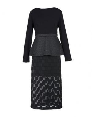 Платье длиной 3/4 MACRÍ. Цвет: черный