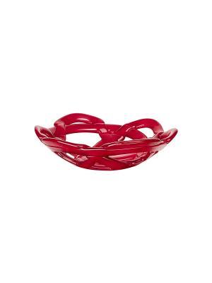 Basket red чаша d 306mm Kosta Boda. Цвет: красный
