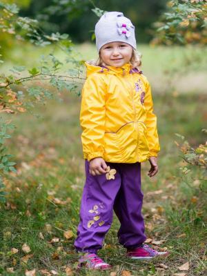 Комплект Красотка Аксарт. Цвет: фиолетовый, желтый