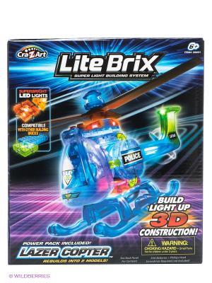 Конструктор Вертолет Lite Вrix. Цвет: синий
