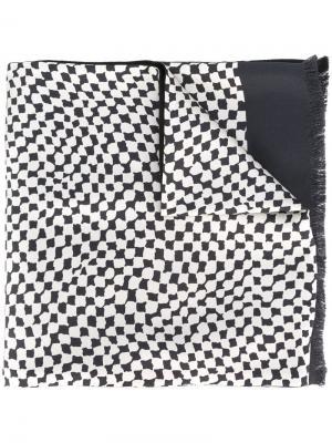 Шарф с абстрактным принтом Haider Ackermann. Цвет: синий