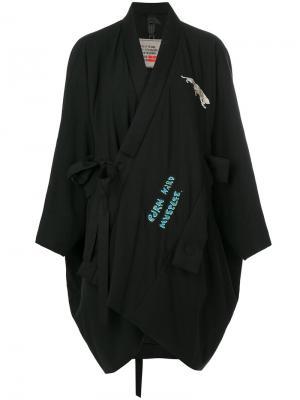 Асимметричное пальто свободного кроя Bernhard Willhelm. Цвет: чёрный