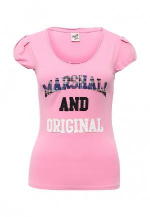 Футболка Marshall Original. Цвет: розовый