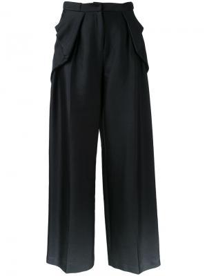 Драпированные брюки Bianca Spender. Цвет: чёрный